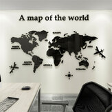 M221 Map Wall Sticker 3D Acrylic Three-Dimensional Waterproof Wall Stickers for Office Sofa TV Background Wall Decorative