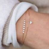 modieus Heart Crystal Charm Multilayer Armband