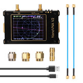 S-A-A-2 NanoVNA V2 50kHz - 3GHz 3.2 Inch Large Screen 3G Vector Network Analyzer S-A-A-2 NanoVNA V2 Antenna Analyzer Shortwave HF VHF UHF Measure Duplexer Filte
