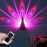 Peacock Shape Projection Lamp Remote Control LED Night Wall Light Night Light