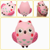 13*12cm Squishy Owl Pink Soft Slow Rising Animal Collection Toy