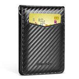 NewBring Tarjetero RFID Bloque de licencia de conducir Titular de tarjeta en efectivo Monedero Clip de dinero Titular de tarjeta de crédito comercial