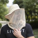 الصيف في الهواء الطلق ضد للماء غطاء حماية الوجه الشاش واقية من الحشرات المشي لمسافات طويلة قبعة الصيد