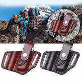 Fodero in pelle XANES® EDC per tasca fodero multitool Organizzatore con portachiavi per Cintura e torcia esterna campeggio