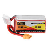ZOP POWER 14.8V 1500mAH 100C 4S Lipo البطارية with XT60 Plug for Eachine Wizard X220S FPV Racer RC Drone