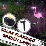 Güneş Enerjili Pembe Flamingo LED Çim Işık Outdoor Bahçe Bahis Manzarası Lamba