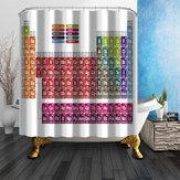 180x180cm Tableau périodique créatif des éléments rideau de douche polyester décor de salle de bains