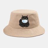 Collrown Cute Katze Isolierter Hut Quarantäne-Eimer aus Baumwolle Hut