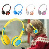 Bakeey Cute Kids Over Ear Stereo Wired Safe Headphones Justerbar Pandebånd Computertablet Kid Baby Child Earphone til Net Class