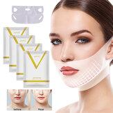 Lifting facciale Dimagrante Maschera Patch Chin Up V Line 4D Riduzione del doppio nastro per il mento Collo Forma rassodante Maschera