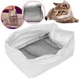 10個の猫使い捨てトイレのトイレトレイボックスライナーペットのうんちバッグ7x26cm
