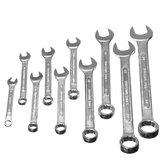 10Pcs Steel Reversible Combinação Ratcheting chave Set