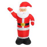 1,2 m de decoração de Natal luminosa inflável ondulante luzes de papai noel para jardim doméstico decoração de natal ao ar livre
