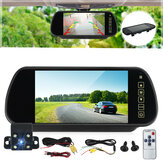 7'' Car Rear View LCD Monitor + 4 LED Reversing Backup Camera Night Vision Kit