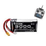 Modèle Alien 7.4V 3000mAh 2S 5C XT30 prise Lipo Batterie pour émetteur Radio JUMPER T16