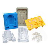 KCASA Star Wars Silicone Ice Mold Tray X-wing Starfighter / Han Solo / Drath Vader / R2-D2