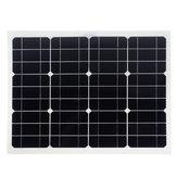 Panele słoneczne Podwójny interfejs USB 30W 12V / 5V DC Krokodylki Cztery głowice Monokrystaliczny panel słoneczny