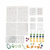 249PCS Epoxy Silicone Resin Casting DIY Molds Kit Set Jewelry Pendant Making Craft