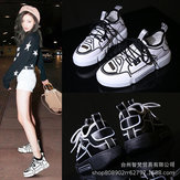 Ugly Shoes Female Super Net Red Shoes Female New Old Sneakers Female