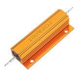 RX24 100 واط 2R 2RJ معدن الألومنيوم حالة عالية القوة المقاوم الذهبي معدن قذيفة حالة غرفة التبريد المقاوم المقاومة