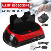 USB 2.0 HDDドッキングステーション2ポート外付けハードドライブカードSATA IDEカードリーダー