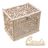 Wood Gift Case Money Card Box DIY Wedding Birthday Party Card Holder Container with Lock Advice Box Wedding Decor