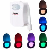 SOLMORE Body Motion Sensor Activated 8 Colors LED Toilet Night Light Bathroom Lamp