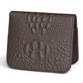 Men Genuine Leather Crocodile Pattern Personalized Wallet