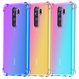Bakeey for Xiaomi Redmi 9 Caso Gradient Color with Four-Corner Airbags À prova de choque Translúcido Soft TPU Protetor Caso