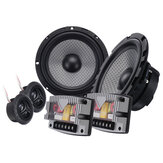 6PCS/Set 6.5'' Speaker HI-FI Component System Kit 400W 90dB Tweeters For Car Motorcycle
