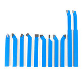 11pcs 8/10/12mm Carbide Lathe Tool Set Cutting Turning Boring CNC Bits