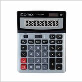 Centralized Finance Multifunctional Office Desktop Calculator Dual Power Wide Screen Computer C1232M
