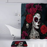 3D Printed Waterproof Polyester Shower Bath Curtain Set of Halloween Woman for Holidays & Party Gadgets