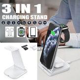 3 in1 Qi Wireless Fast Charger Dock Oplaadstandaard Voor Apple Watch Voor iPhone Telefoon Airpods Pro