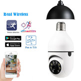 E27 2MP Mini PTZ Full HD Wifi IP Camera with E27 Bulb Socket Night Vision Cloud Storage Speed Dome Security Serveillence for Smart Home Monitoring