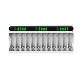 Beston 12 Slot Smart AA AAA Ni-mh Battery Charger DC 1.2V USB-C/USB Fast Intelligent Battery Charging for AA AAA Cell