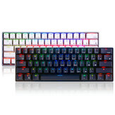 Royal Kludge RK61 bluetooth Wired Dual الوضع 60٪ RGB Mechanical Gaming Keyboard