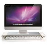 Escritorio de aluminio Monitor Soporte Soporte antideslizante para portátil con cargador USB de 4 puertos para iMac MacBook Pro Air