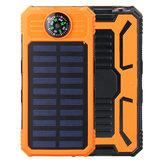 Caricabatterie solare 8000 mAh USB Solar Batteria Caricabatterie Telefono Caricabatterie Power Bank con torcia elettrica
