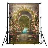 5x7FT Castle Photography Background Wedding Photo Studio Vinyl Backdrops Flowers