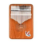 GECKO 17 Keys Kalimbas Mbira Africké mahagonové prsty palce klavír dřevěné klávesnice bicí hudební nástroj dárek