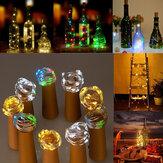 Batería de 15 LEDs en forma de corcho LED Sliver Wire Starry luz de la botella de vino de la lámpara de Navidad Party Out