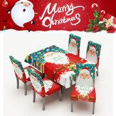 2020 noël nappe imperméable chaise ensemble table à manger décorations famille rectangulaire table de fête chaise couvre