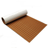 900x2300x6mm EVA Foam Teak Brown con Black Line Faux Teak barco Decking Sheet