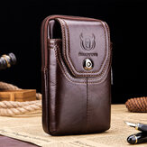 Bullcaptain Men Echtleder 5,5 Zoll Phone Bag Taillentasche Business Bag