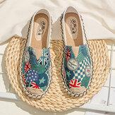 Donne Modello Slip On Comode cuciture a mano casual scarpe mocassini piatti
