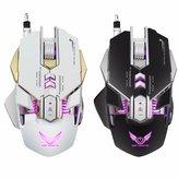 X300 7 Botões 3200DPI LED Variable Light Mecânica Macros Definir Mouse Gaming