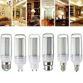Dimmable E27 E14 E12 G9 GU10 B22 6W SMD4014 LED Corn Bulb Chandelier Light AC220V