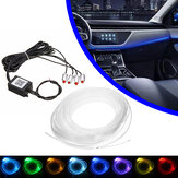 LED Illuminazione interna per auto, applique da pavimento, luce, telefono, app, Colorful RGB