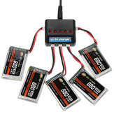 XF POWER 3.7V 680mAh 30C 1S Lipo Battery PH 2.0 Plug with Battery Charger
